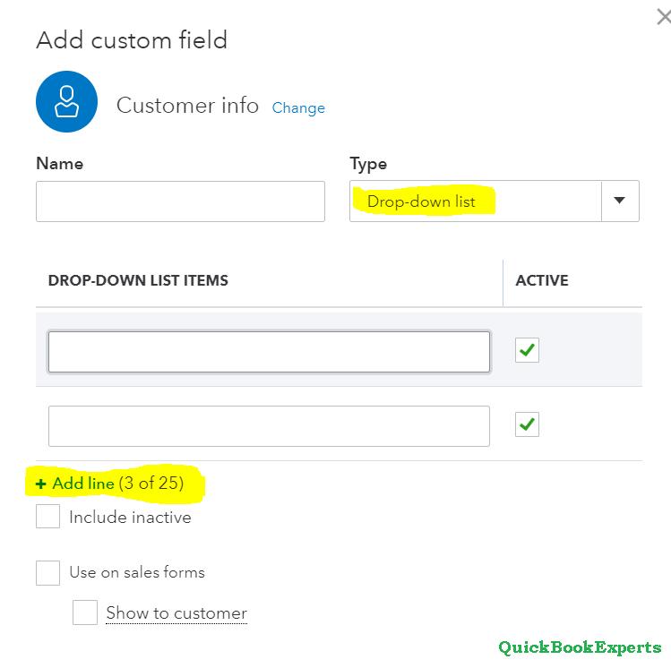 Create, Add, and Edit Custom Fields in QuickBooks Online Advanced