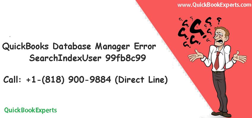 QuickBooks Database Manager searchindexuser 99fb8c99