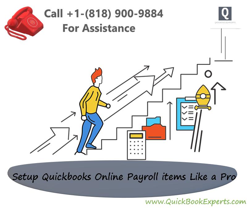Setup QuickBooks Online Payroll Items