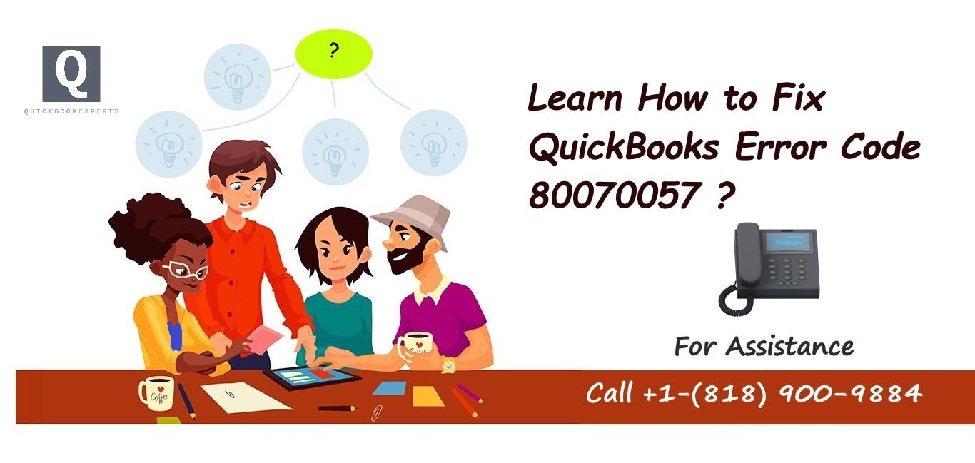 QuickBooks Error 80070057 the parameter is incorrect