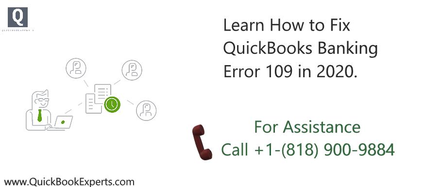 QuickBooks Banking Error 109