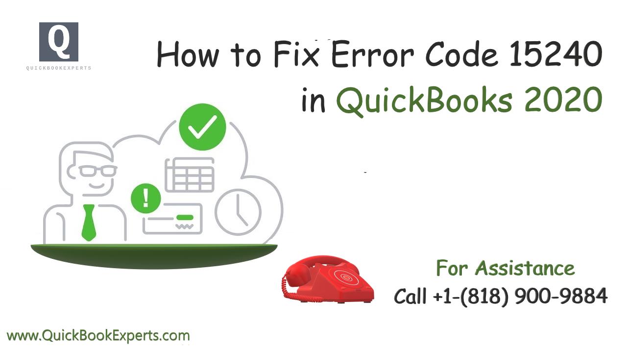 How to Fix QuickBooks Error 15240