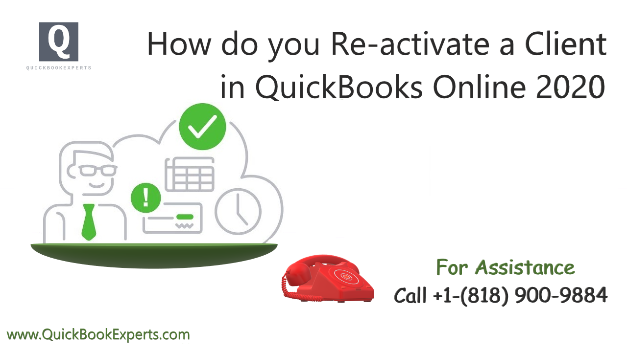 How do you Re-activate a client in QuickBooks Online
