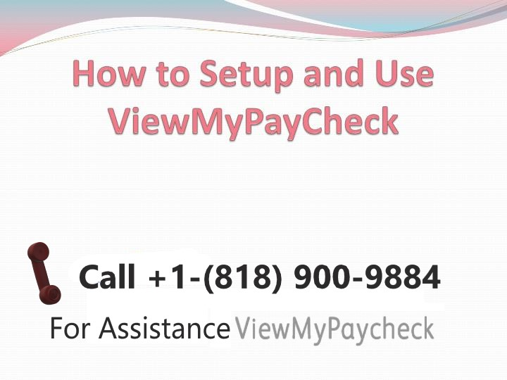 How to Activate View My Paycheck