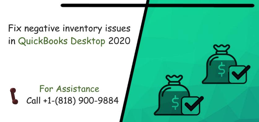 Fix negative inventory issues in QuickBooks Desktop