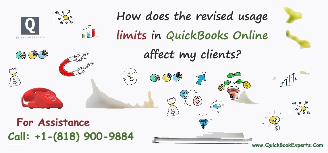How does the revised usage limits in QuickBooks Online affect my clients