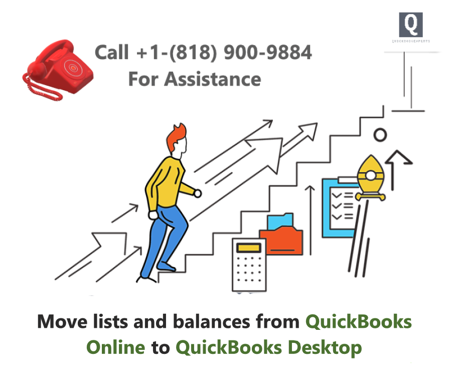 Move lists and balances from QuickBooks Online to QuickBooks Desktop